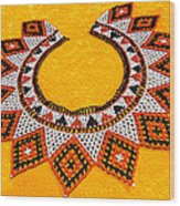 Lakota Souix Dance Collar Wood Print