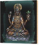 Lakshmi Hindu Goddess Wood Print by Eva Thomas