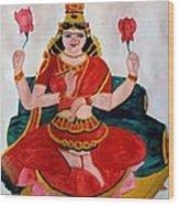 Lakshmi Wood Print by Pratyasha Nithin