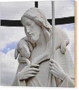 Lamb Of God Jesus Christ Torso Wood Print