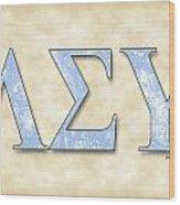 Lambda Sigma Upsilon - Parchment Wood Print