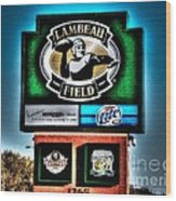 Lambeau Field Entrance Wood Print