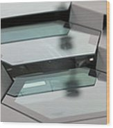 Lambo Engine Cover Detail Wood Print