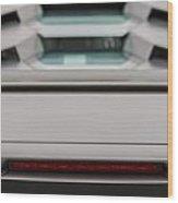Lambo Logo And Tail Detail Grey Wood Print