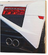 Lamborghini Gallardo Tail Light Pipes Wood Print