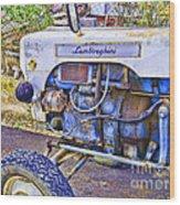 Lamborghini Classic Tractor Wood Print