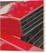 Lamborghini Countach Intake Wood Print