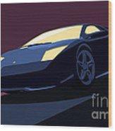 Lamborghini Murcielago - Pop Art Wood Print