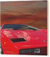 Lamborghini Starting Dream Wood Print