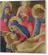 Lamentation Over The Dead Christ Wood Print