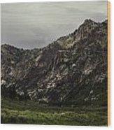Lamoille Canyon End Wood Print