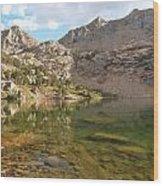 Lamoille Lake Wood Print