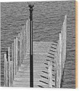 Lamp And Pier Wood Print