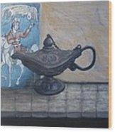 Lamp And Tile Wood Print