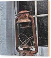 Lamp Light Wood Print