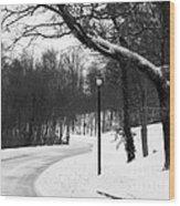 Lamp-light Lane Wood Print