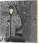 Lamp Lite Wood Print