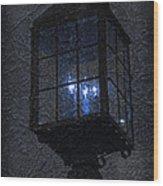 Lamp Post Blues Wood Print