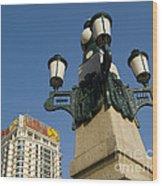 Lamp Post, China Wood Print