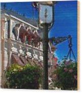 Lamp Post Wood Print