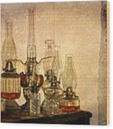 Lamps And Lace Wood Print