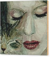 Lana Del Rey And A Friend  Wood Print by Paul Lovering
