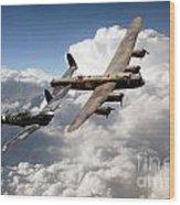 Lancaster And Spitfire  Wood Print
