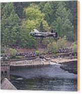 Lancaster Bomber 70th Anniversary Flypast Wood Print