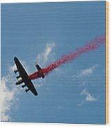 Lancaster Bomber Drops Poppies Over London Wood Print