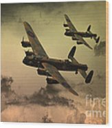 Lancaster Fire In The Sky Wood Print