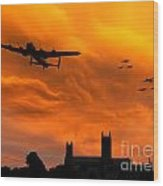 Lancaster Lincoln Sunset Wood Print