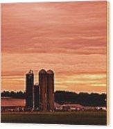 Lancaster Pa Sunset Wood Print