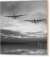 Lancasters Return Mono Version  Wood Print