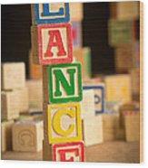 Lance - Alphabet Blocks Wood Print