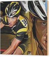 Lance Armstrong Artwork Wood Print