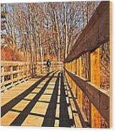 Lance Rides On Wood Print