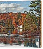 Land Of Lakes Wood Print