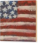 Land Of The Free Wood Print by Niceliz Howard