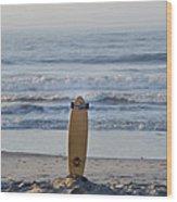 Land Surf Board Wood Print