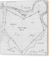 Land Survey From 1722 Wood Print