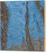 Land To Sky Wood Print