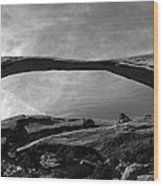 Landscape Arch Panoramic Wood Print