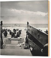 Landing At Normandy On D-day Wood Print