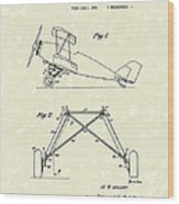 Landing Gear 1932 Patent Art Wood Print by Prior Art Design