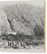 Landing Of A Portion Of The National Army At The Marina Di Wood Print