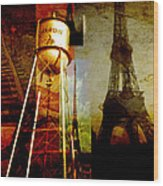 Landmarks  Wood Print