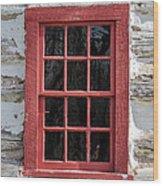 Landow Cabin Window Wood Print