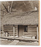 Landow Log Cabin 7d01723b Wood Print