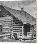 Landow Log Cabin Wood Print