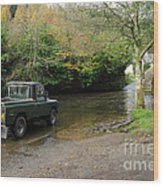 Landrover And The Ford  Wood Print